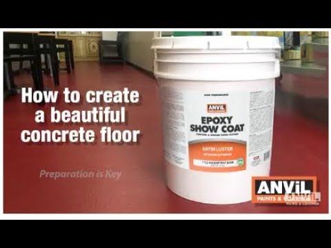 How to Apply Epoxy Floor Coating to Concrete Floors - 2018