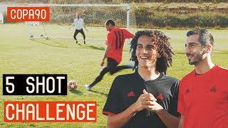 5 Shot Challenge with Mkhitaryan & Guendouzi! ft. Poet and Vuj