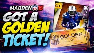 Madden 15 Ultimate Team - WE GOT A GOLDEN TICKET! MUT 15 PS4