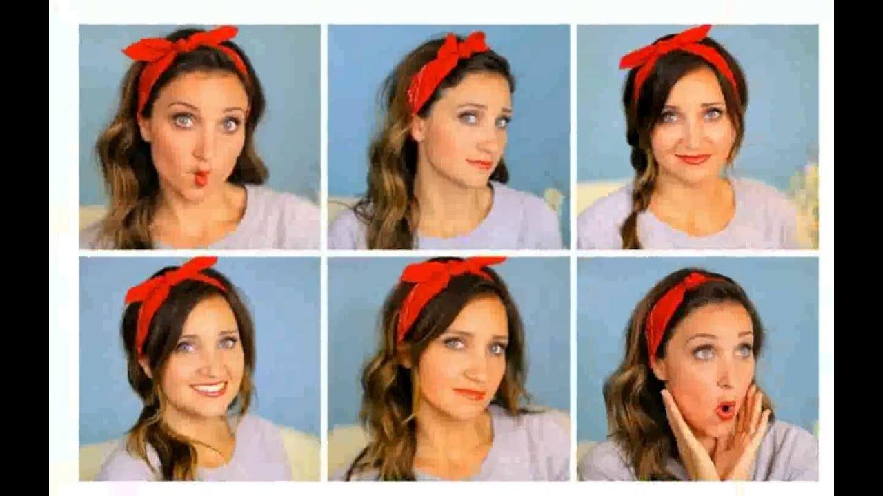 Pin Up Hairstyles For Short Hair: Pin Up Hairstyles With Bandana