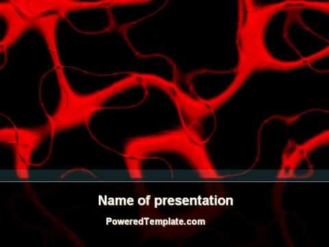 arteries carrying blood powerpoint template by