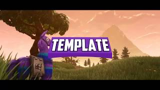 GRATUIT FORTNITE 2D INTRO TEMPLATE (Bleu - Lama)
