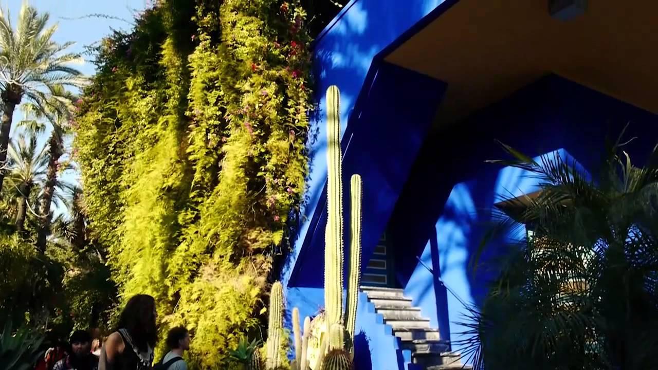 Morocco maroc marrakech jardin majorelle garen yves for Jardin yves saint laurent maroc