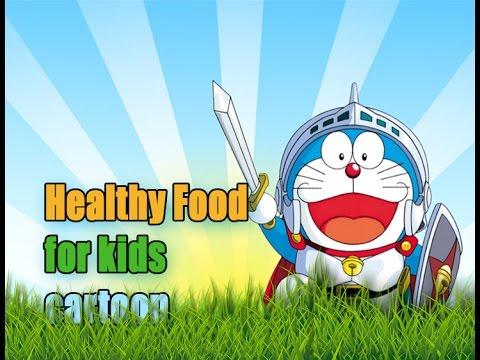 healthy food for kids cartoon