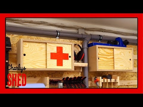 first-aid-and-camera-accessories-sliding-door-cabinet-for-the-french-cleat-wall,-french-cleat-holder