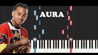 Ozuna - Aura ft Arthur Hanlon (Piano Tutorial)
