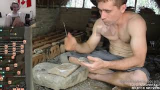 xQc Reacts to Primitive Technology