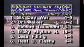1990 Maywood Park SIX DAY WAR Open Pace Walter Paisley