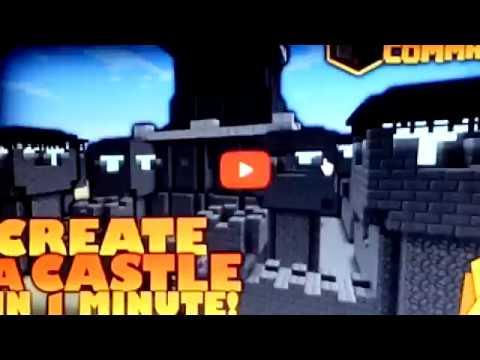 Lệnh xây lâu đài và thành phố trong minecraft