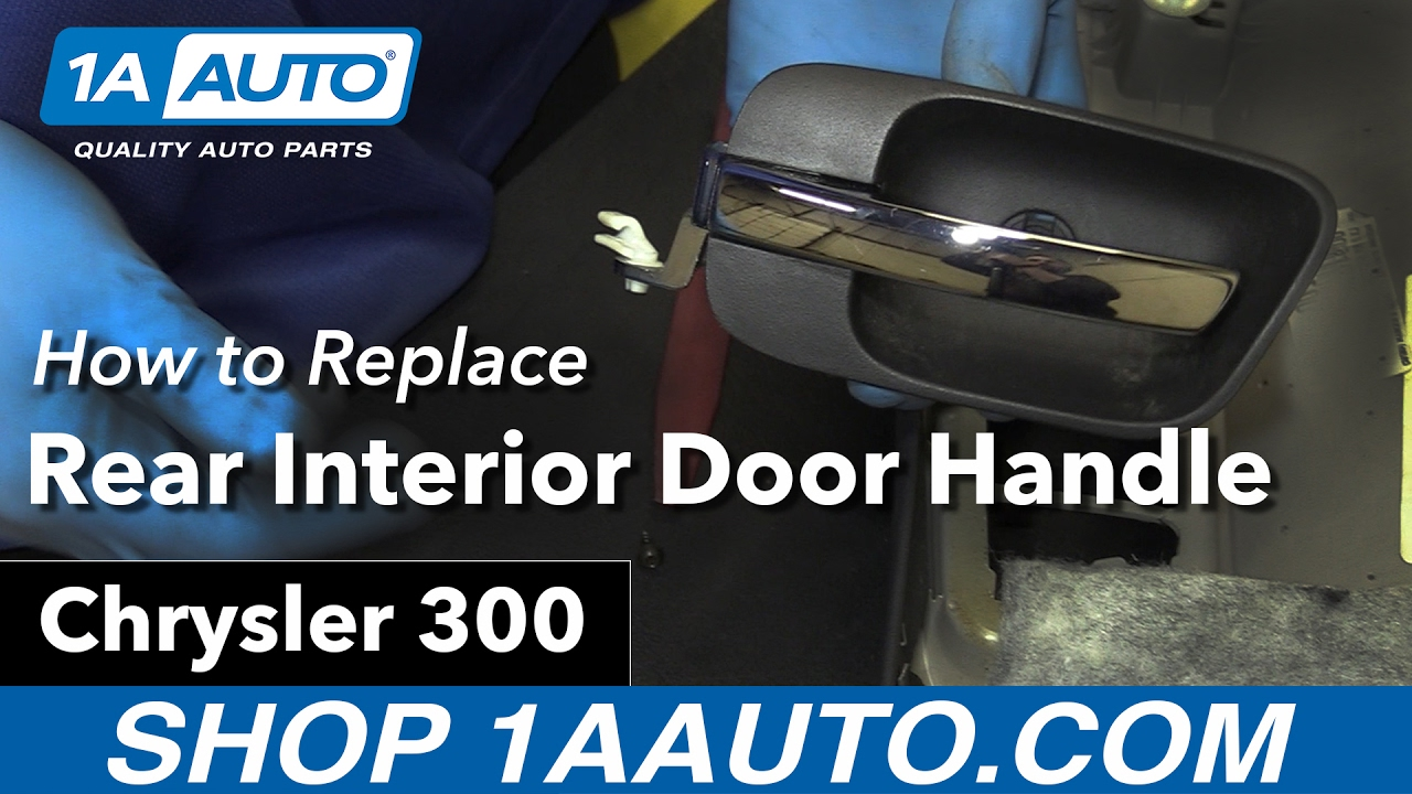 How to Replace Install Rear Interior Door Handle 2006 Chrysler 300 ...