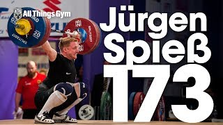 Jürgen Spiess (94kg, Germany) 173kg Snatch 2017 European Weightlifting Championships