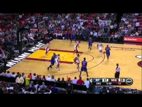 Carmelo Anthony Hits Three Pointer vs Miami Heat