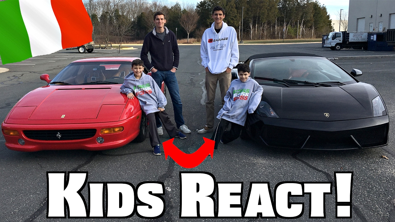 Kids React To Ferrari Lamborghini Funny Supercar Reactions