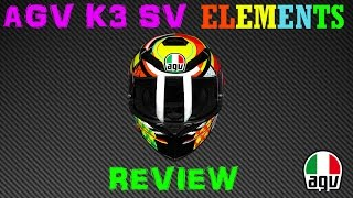 agv k3 sv elements helmet review