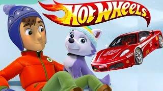 Hot Wheels / Хот Вилс и ЩЕНЯЧИЙ ПАТРУЛЬ. Гоночные машинки Райдера и Джейка. Развивающий мультик