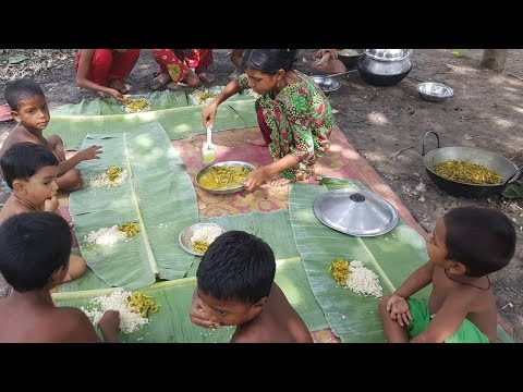 Fish Vegetables Curry Cooking By 5-7 Years Old Kids / Village Children Picnic / So Tasty Food
