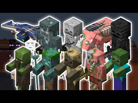 UNDEAD MOBS VS 10 OF EVERY MOB | MINECRAFT