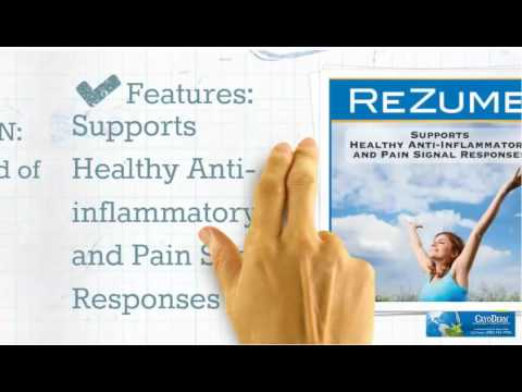 rezume provides relief for arthritis youtube