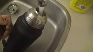how to clean stainless steel 1971 Vintage Stanley Aladdin's Rugged American Thermos | thermosdade Dade