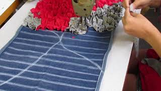 Tapete de Retalhos - How to make doormats using waste clothes - DIY doormats making idea-WOW #3