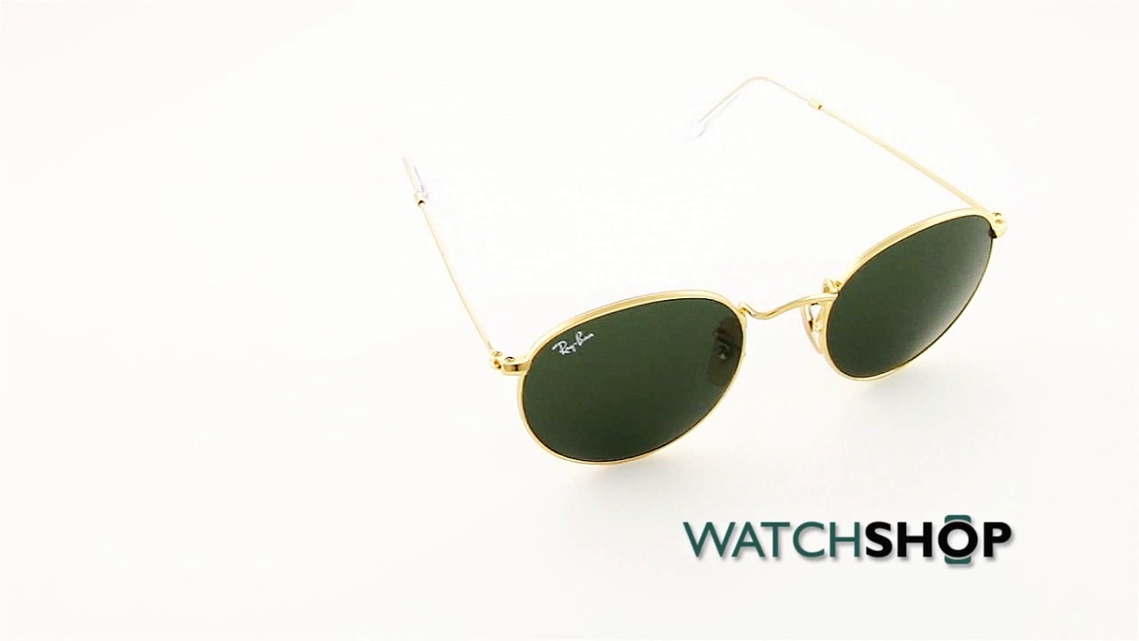 3bedf31c0e Ray-Ban Men s Round Metal Sunglasses (RB3447-001-50) - YouTube
