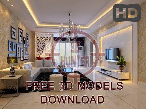 DOWNLOAD 3D MODELS (living room) -1 - YouTube