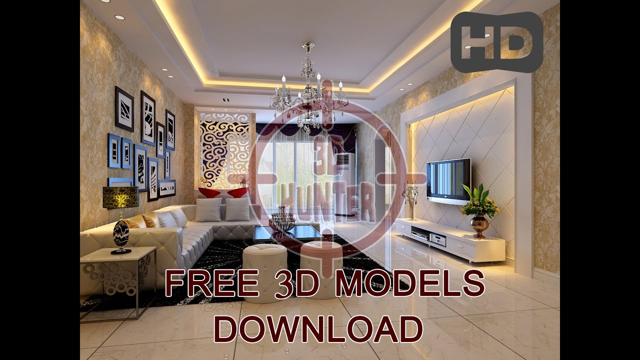 Download 3d Models Living Room 1 Youtube