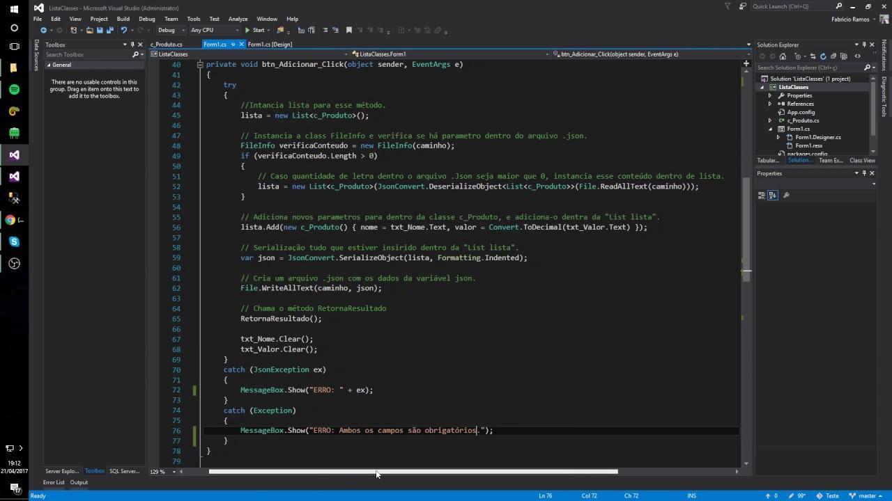 Estudando C#: JSON