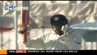 V Sehwag 309 Pakistan v India, 1st Test, Multan, 2004