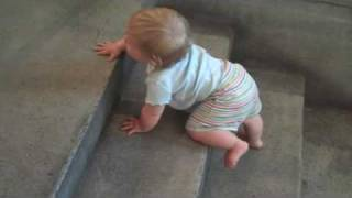 Sadie's 1st stairs (Donna Karan Store)