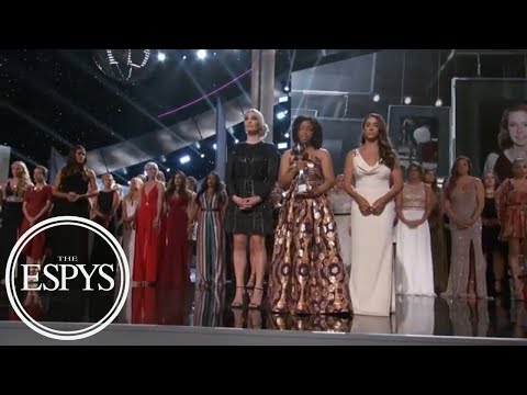 'Sister survivors' moment of solidarity accepting Arthur Ashe Courage Award | ESPYS 2018 | ESPN