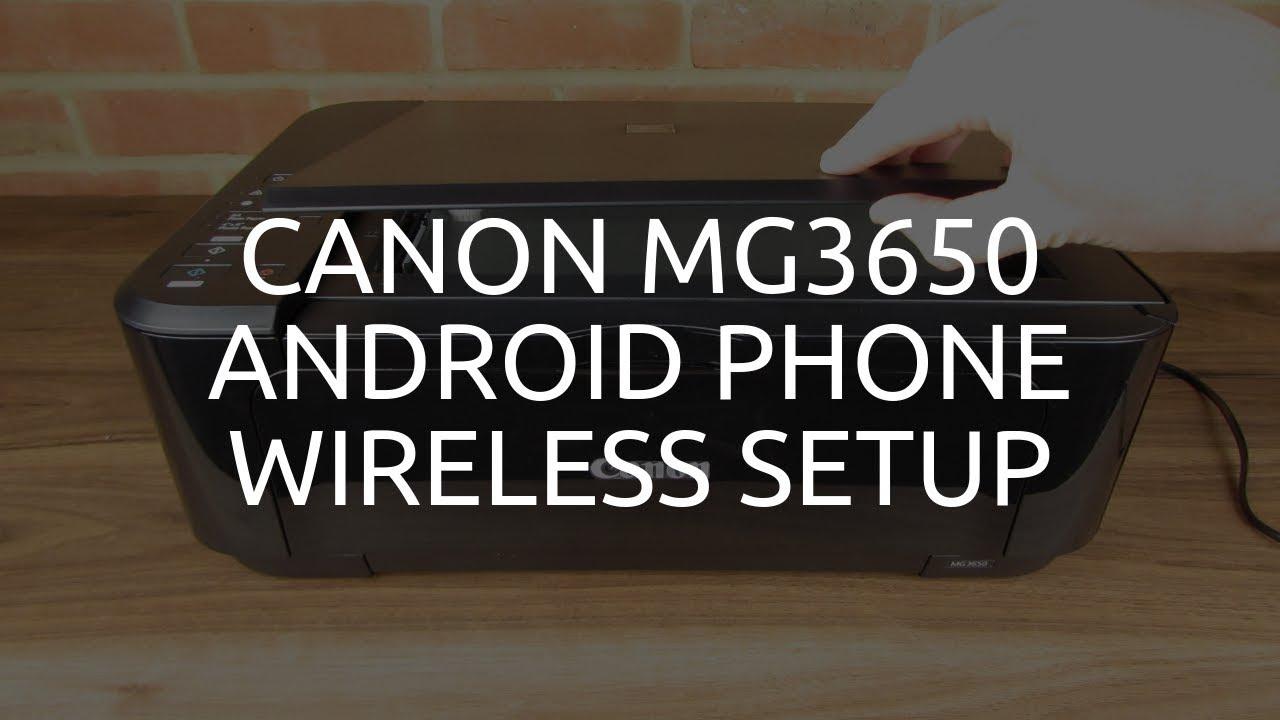 Canon MG20 Wireless / WiFi Android Phone Setup