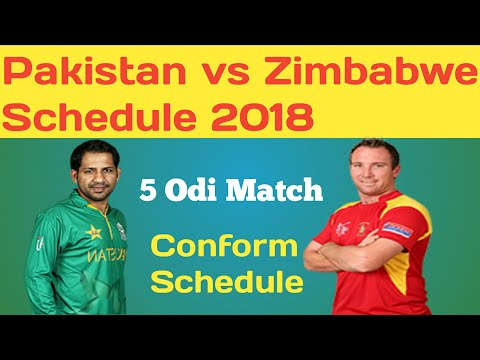 Pakistan vs Zimbabwe ODI Series full Schedule 2018 | Pakistan tour of Zimbabwe 2018 thumbnail