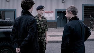 Холмс и Ватсон проникают на военную базу Баскервиль (Часть 1). Шерлок. 2012