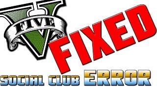 GTA 5 Social Club Error FIXED (100% WORKING)