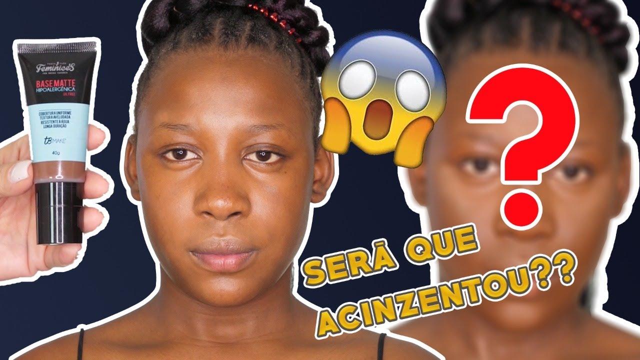 TESTEI BASE PAUSA PARA FEMINICES EM PELE NEGRA!