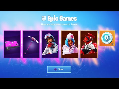 The NEW VALENTINES SKINS in Fortnite... (FREE REWARDS) thumbnail