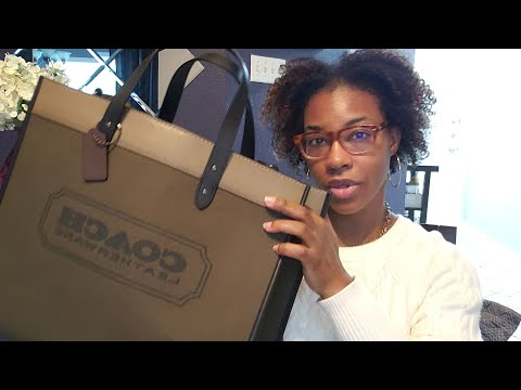 Coach Field Tote 40 Handbag Unboxing| GirlBossBeauty