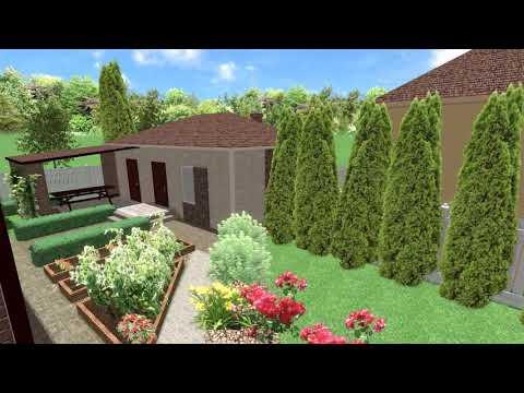 Ландшафтный дизайн дачного участка своими руками на 6 сотках видео