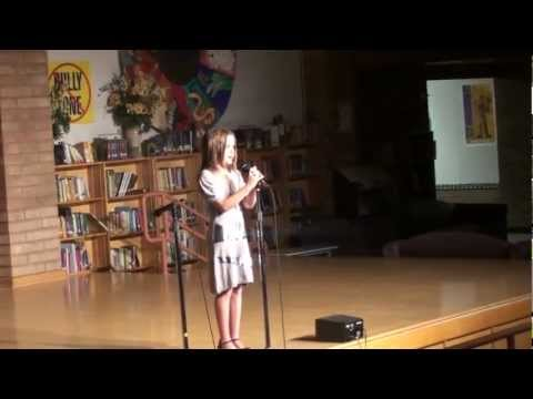 """Mckenna Connally Singing """"I Want You Back""""  3rd grade talent show"""