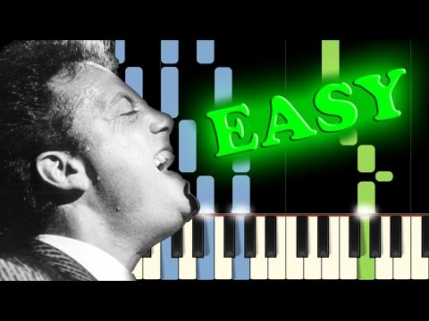 BILLY JOEL  PIANO MAN  Easy Piano Tutorial