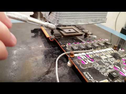 Как снять чип с видеокарты