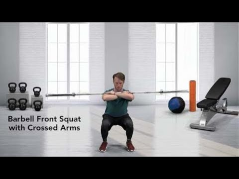 How To Do A Barbell Front Squat With Crossed Arms Youtube