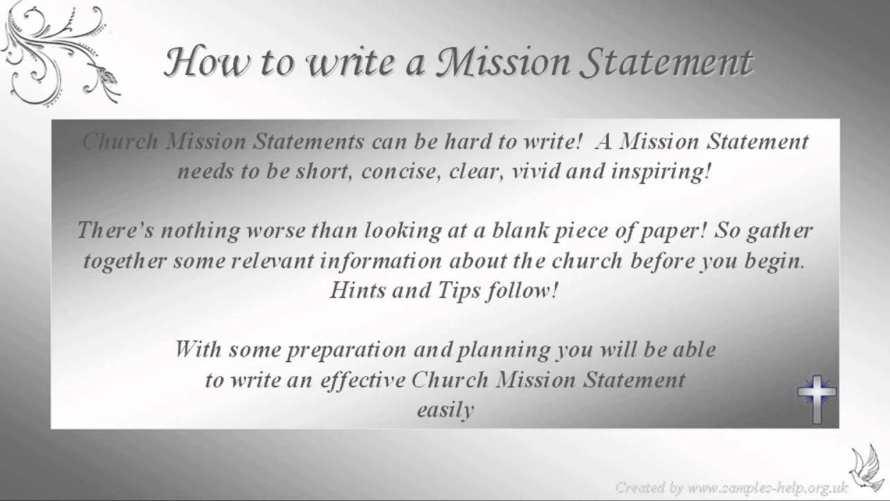 How to write Church Mission Statements - YouTube