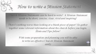 How to write Church Mission Statements