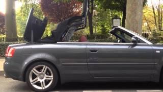 Audi A4 Cabriolet - ouverture de la capote