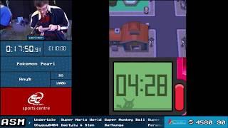 Pokemon Pearl Any% Speedrun - Live at ASM 2018