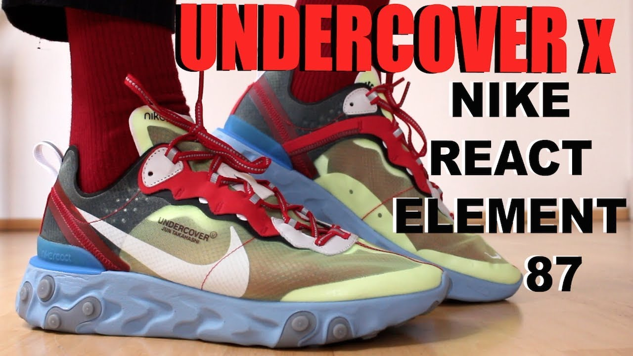 ef6bbd785c3e UNDERCOVER NIKE REACT ELEMENT 87 REVIEW + ON FEET - YouTube