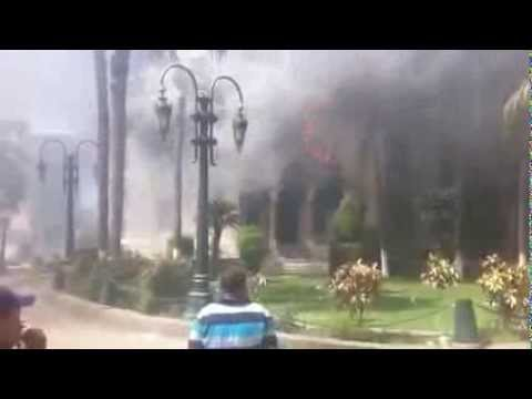 Giza governorate building was burnt down by Mursi supporters