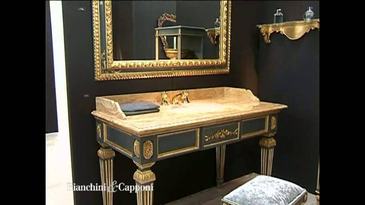 Mobile Bagno stile impero art 8544, legno policromo, specchio bagno ...